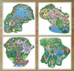 Walt Disney World Map Coasters